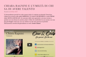 One & Only – Intervista di Federica Volpicelli