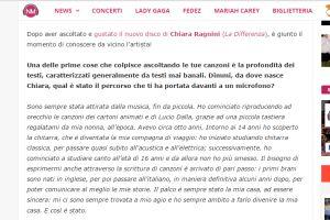Notizie Musica – Intervista di Nicoló Olia